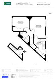 Large floorplan for Longfield Street, Wandsworth, SW18