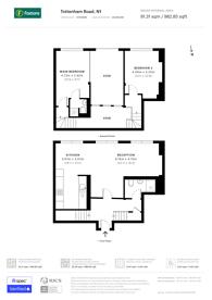 Large floorplan for Tottenham Road, De Beauvoir Town, N1