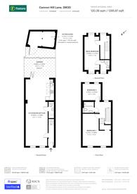 Large floorplan for Cannon Hill Lane, Wimbledon, SW20