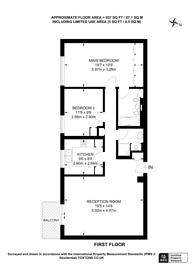 Large floorplan for Fitzhardinge House, Marylebone, W1H