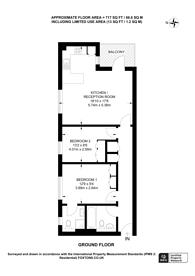 Large floorplan for Empire Way, Wembley Park, HA9