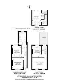 Large floorplan for Priory Road, Bedford Park, W4