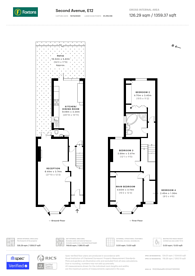 Large floorplan for Second Avenue, Manor Park, E12
