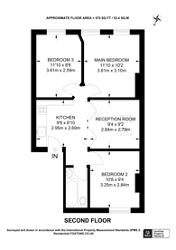 Large floorplan for King Street, Twickenham, TW1