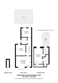 Large floorplan for Hadyn Park Road, Wendell Park, W12