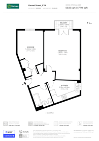 Large floorplan for Garnet Street, Wapping, E1W