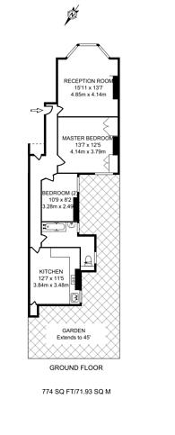 Large floorplan for Cholmondeley Avenue, Harlesden, NW10