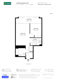 Large floorplan for Landmark Square, Canary Wharf, E14