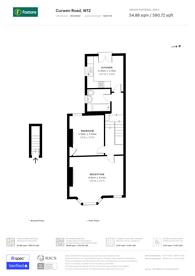 Large floorplan for Curwen Road, Ravenscourt Park, W12