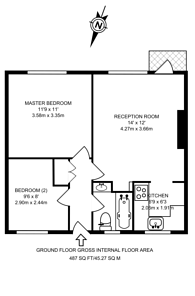 Large floorplan for Bevenden Street, Old Street, N1