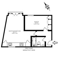 Large floorplan for Hazlitt Mews, Brook Green, W14