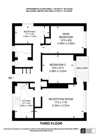 Large floorplan for Heather Close, Battersea, SW8