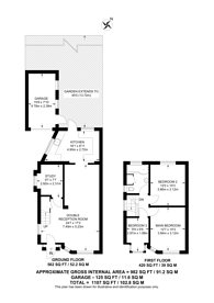 Large floorplan for Corfe Avenue, South Harrow, HA2