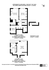Large floorplan for Campden Hill Towers, Notting Hill Gate, W11