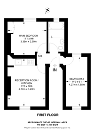 Large floorplan for Kingston Road, Wimbledon, SW19
