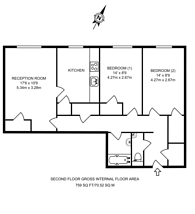 Large floorplan for Mildmay Street, Mildmay, N1