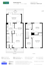 Large floorplan for Tockley Road, Berkshire, SL1