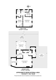 Large floorplan for Moyne Place, West Twyford, NW10