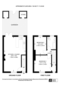 Large floorplan for Stephenson Street, Park Royal, NW10