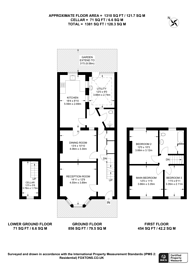 Large floorplan for First Avenue, Manor Park, E12