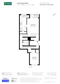Large floorplan for Penton Rise, King's Cross, WC1X