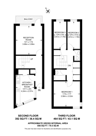 Large floorplan for Palace Road, Streatham, SW2