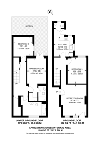 Large floorplan for Shrubbery Road, Streatham, SW16
