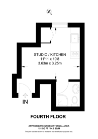 Large floorplan for Linden Gardens, Notting Hill Gate, W2