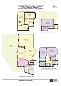 Large floorplan for Downage, Hendon, NW4