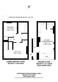 Large floorplan for Waldram Park Road, Forest Hill, SE23