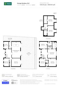 Large floorplan for Grange Gardens,, Berkshire, SL2