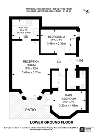 Large floorplan for Earls Court Road, Earls Court, SW5