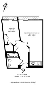 Large floorplan for Praed Street, Paddington, W2