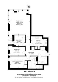 Large floorplan for Lymington Road, Hampstead, NW6