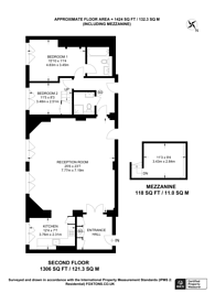 Large floorplan for St Pancras Chambers, King's Cross, NW1
