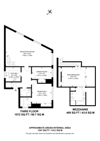 Large floorplan for Floral Street, Covent Garden, WC2E