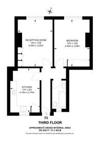Large floorplan for Lordship Lane, Wood Green, N22, Wood Green, N22