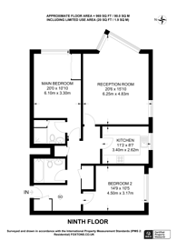 Large floorplan for Hamble Court, Teddington, TW11