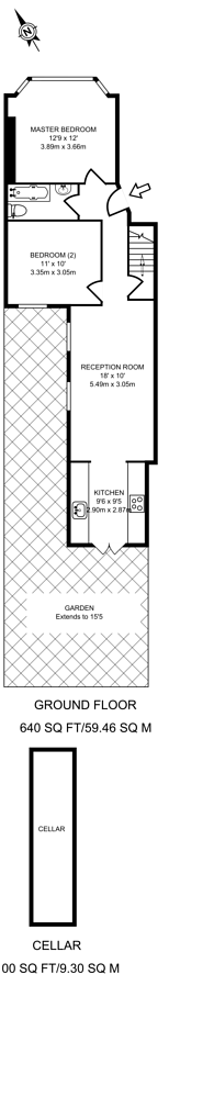 Large floorplan for Horsford Road, Brixton Hill, SW2