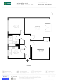 Large floorplan for Carlton Drive, East Putney, SW15