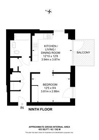 Large floorplan for New Market Place, East Ham, E6