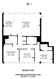 Large floorplan for Long & Waterson, Shoreditch, E2