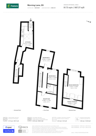 Large floorplan for Morning Lane, Hackney, E9