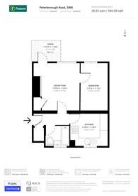 Large floorplan for Peterborough Road, Peterborough Estate, SW6