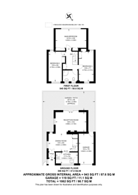 Large floorplan for Grove Lane, Dulwich, SE5