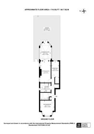 Large floorplan for Inglis Road, Ealing Common, W5