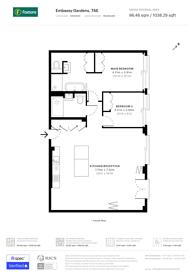 Large floorplan for New Union Square, Nine Elms, SW11
