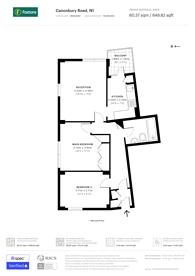 Large floorplan for Canonbury Road, Islington, N1