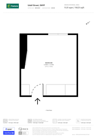 Large floorplan for Udall Street, Westminster, SW1P
