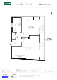 Large floorplan for Mallow Street, Old Street, EC1Y